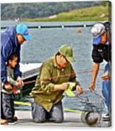 Teach Him To Fish Canvas Print