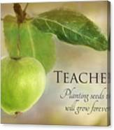 Teachers Canvas Print