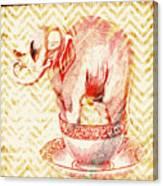 Teacup Elephant Canvas Print