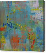 Teal Abstract, A New Look Again Canvas Print