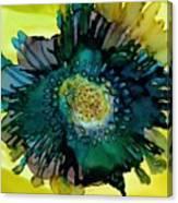 Teal Bloom Canvas Print