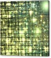 Teal Gold Cubes Canvas Print