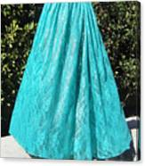 Teal Green Lace Skirt. Ameynra By Sofia Canvas Print