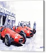 1953 Team Ferrari 500 F2 German Gp Canvas Print