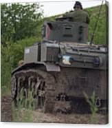 Tearing It Up - M3 Stuart Light Tank Canvas Print