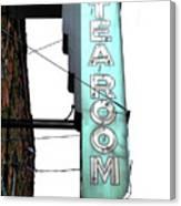 Tearoom Sign Canvas Print