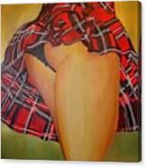 Tease Me In Tartan Canvas Print