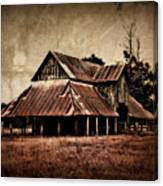 Teaselville Texas Barns Canvas Print