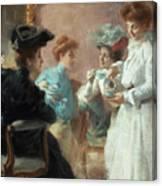 Teatime In My Living Room In Via Senato Canvas Print