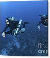 Technical Divers With Equipment Canvas Print