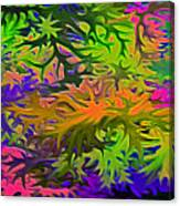 Technicolor Leaves Canvas Print