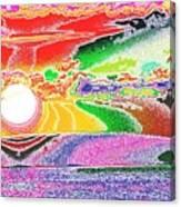 Technicolor Sunset Canvas Print