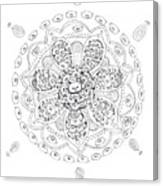 Teddy Bear Mandala Canvas Print