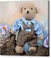 Teddy On Tour Canvas Print