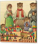 Teddybears and Bears Christmas Canvas Print