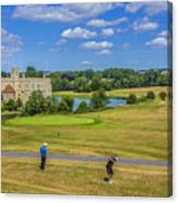 Teeing Off At Leeds Castle Canvas Print