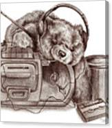 Teenage Bear Canvas Print
