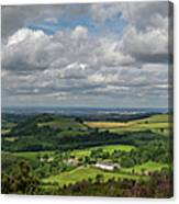 Tees Plain And Roseberry Topping Canvas Print