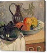 Teiera Brocca E Frutta Canvas Print