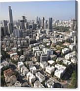 Tel Aviv And Ramat Gan Israel Canvas Print