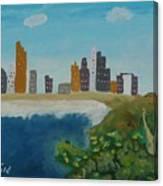 Tel Aviv Coastline Canvas Print