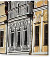 Telc Facade #2 - Czech Republic Canvas Print
