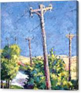 Telephone Poles Before The Rain Canvas Print