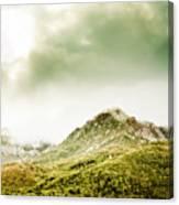 Temperate Alpine Terrain Canvas Print