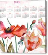 Template For Calendar 2013 Canvas Print