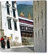 Temple Approach Canvas Print