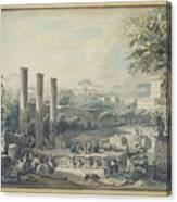 Temple De Serapis Canvas Print