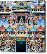 Temple Facade Chennai India Canvas Print