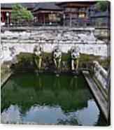 Temple Fountain Canvas Print