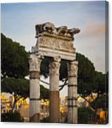 Temple Of Castor And Pollux Canvas Print