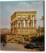 Temple Of Isis On The Nile River Canvas Print
