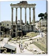 Temple Of Saturn Roman Forum Rome Italy Canvas Print