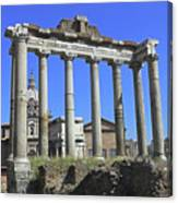 Temple Of Saturn Canvas Print