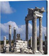 Temple Of Trajan View  Canvas Print