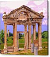 Temple Ruins At Ephesus Canvas Print