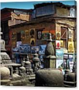 Temple Shop Canvas Print