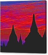 Temple Silhouettes Canvas Print