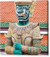 Temple Warrior Canvas Print