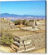 Temples In Monte Alban Canvas Print