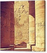 Temples Of Karnak  Canvas Print