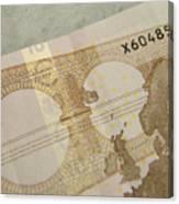 Ten Euro Note Canvas Print