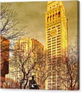 Ten Past Four At Madison Square Park Canvas Print