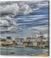 Tenby Harbour Texture Effect Canvas Print