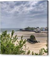 Tenby Pembrokeshire Low Tide Canvas Print