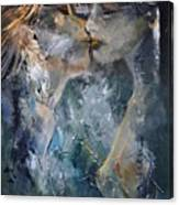Tender Kiss Canvas Print