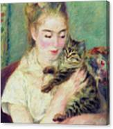 Tenderness Of A Woman Canvas Print